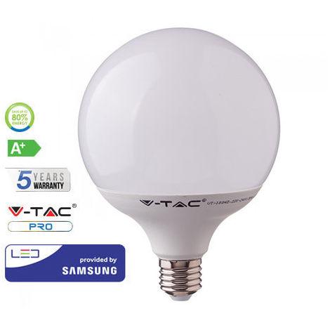 Bombilla LED Samsung Globo G120 E27 18W 200° V-TAC PRO