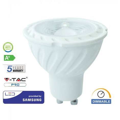 Bombilla LED Samsung GU10 6.5W 38° 220V Regulable V-TAC PRO