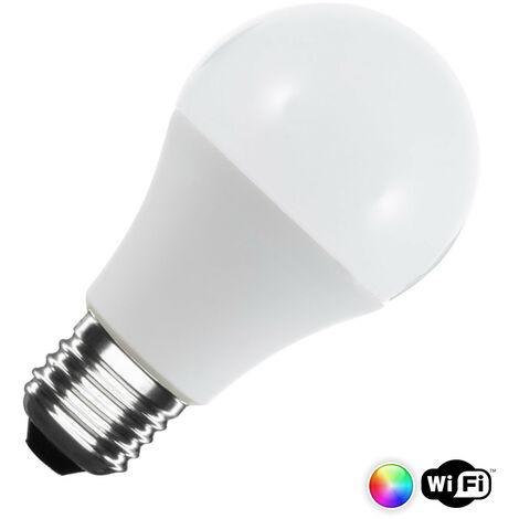 Bombilla LED Smart WiFi E27 Casquillo Gordo A60 Regulable RGBW 6W RGBW . - RGBW