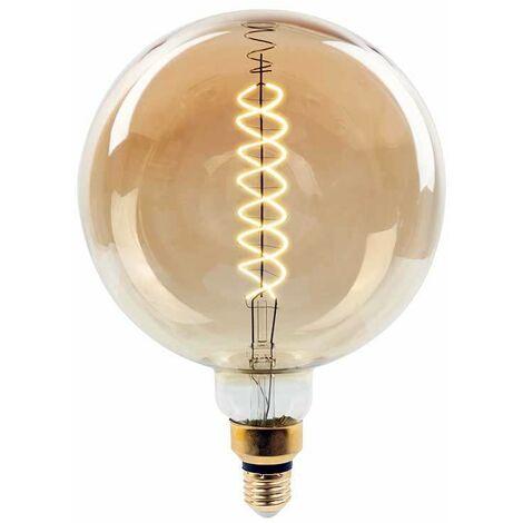 Bombilla LED Spiral Filament G200 E27 2000K 8W 340° regulable