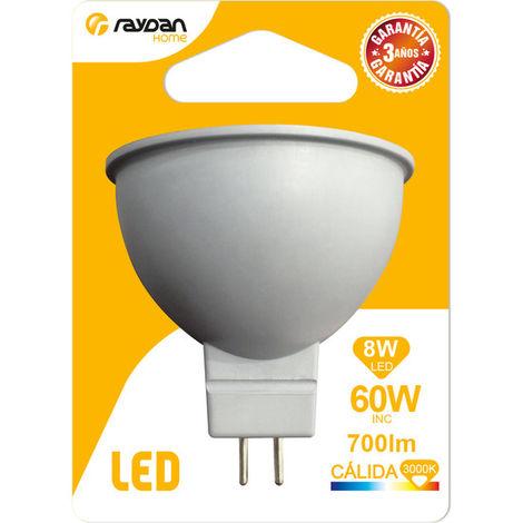 Bombilla LED Spotlight GU5.3 8W Equi.60W 700lm 15000H