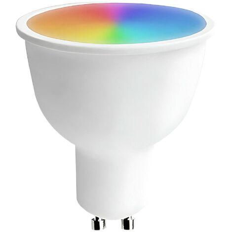 Bombilla LED Spotlight Smart WiFi GU10 5W Equi.25W 350lm RGBWW Regulable vía Smartphone/APP 25000H 7hSevenOn Home