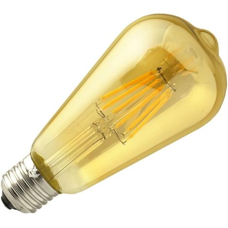 Bombilla led ST64 Filamento 6W E27 blanca 2700K dorada