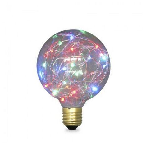 Bombilla LED Starlight Globo G95 2W E27 RGB