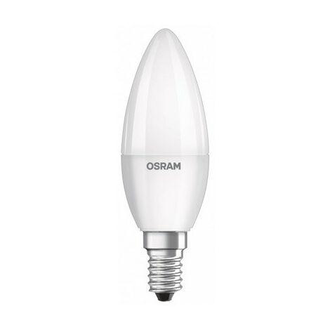 Bombilla Led tipo vela 5W luz blanca cálida 827 E14 Osram