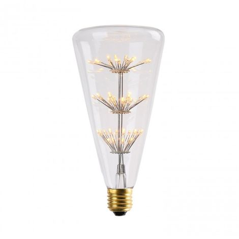 Bombilla LED Triángulo 3W transparente luz cálida