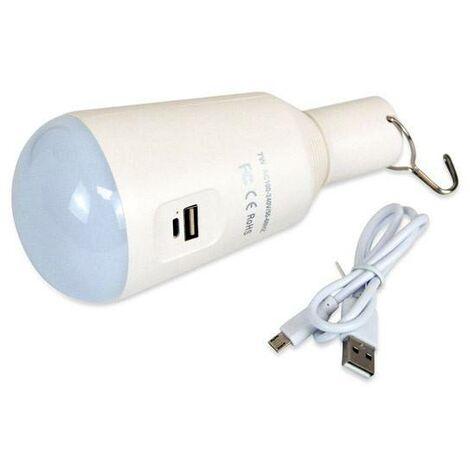 Bombilla LED USB 7W multifunción con Powerbank | Blanco Frío