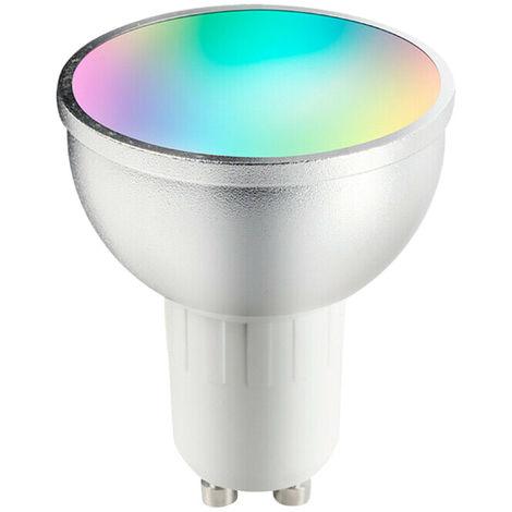 Bombilla LED V18 Smart WIFI, Bombilla LED RGB + W,6W,GU10,para Alexa Google Home
