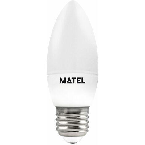 Bombilla LED vela regulable E27 7w neutra 680lm