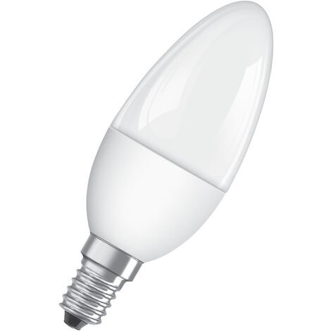 Bombilla LED Vela E14 5W 2700K Luz Calida Regulable OSRAM