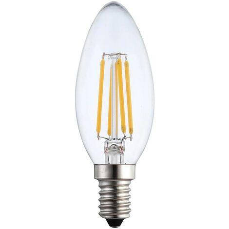 BOMBILLA LED VELA E14 6W 2700K