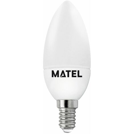 Bombilla LED vela E14 6w fría 600lm