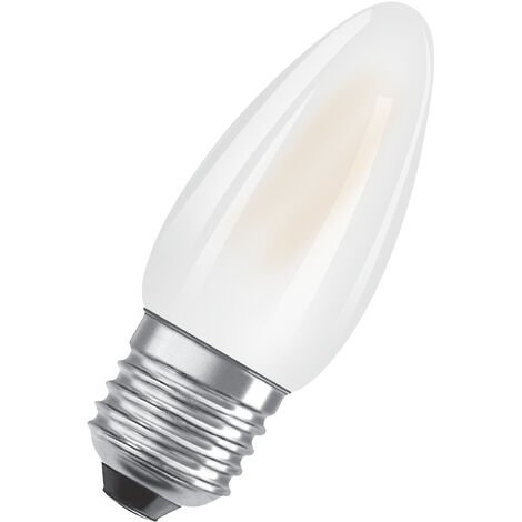 Bombilla LED Vela E27 4W 2700K Luz Calida OSRAM