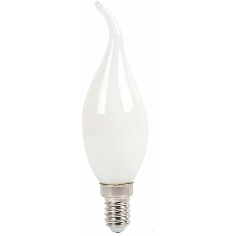 300° LED efecto llama Filament E14 vela 4W Bombilla White Cover wuXTPkZiO