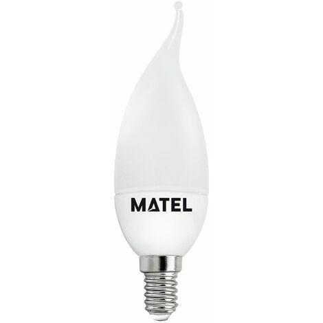 Bombilla LED vela flama E14 8w fría 800lm