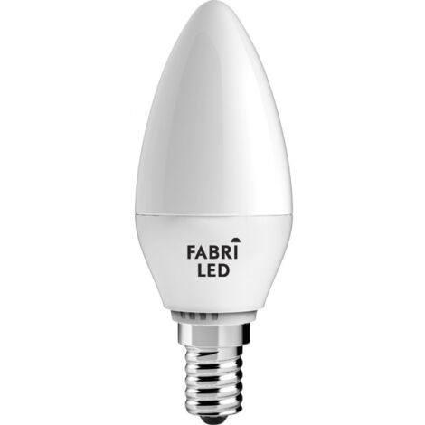 Bombilla led vela luz neutra 5W E14 Fabriled - Blanco