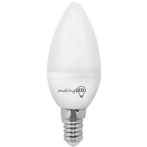 Bombilla LED vela neutra (4W)