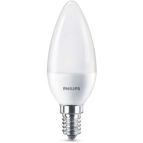 BOMBILLA LED VELA PHILIPS 5 5W A+ 240 V BLANCO S0408654