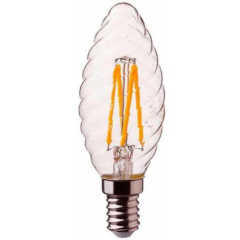 "main image of ""Bombilla LED vela rizada filamento E14 2700K 4W 300° regulable"""