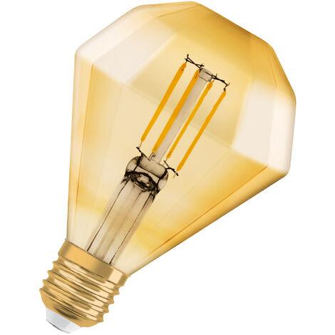 Bombilla LED Vintage Diamante E27 Oro 4.5W 2700K Luz Calida OSRAM