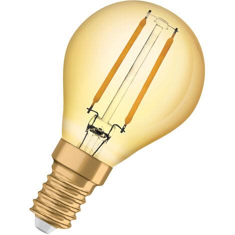 Bombilla LED Vintage Esferica E14 Oro 2.5W 2400K Luz Calida OSRAM