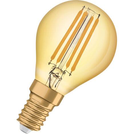 Bombilla LED Vintage Esferica E14 Oro 4W Luz Calida OSRAM