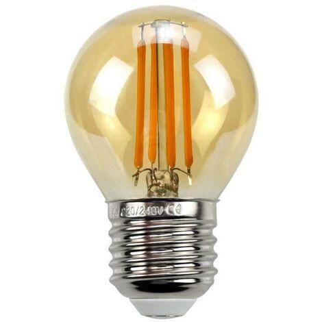 Bombilla LED Vintage esférica E27 G45 4W de filamento