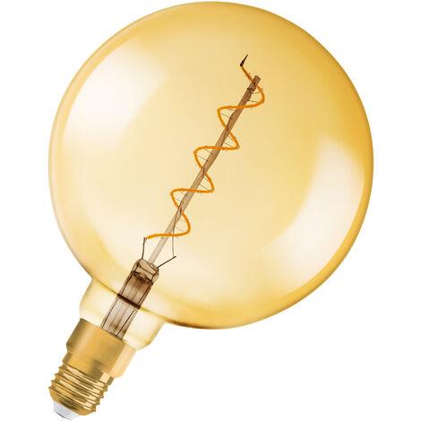 Bombilla LED Vintage Globo E27 Oro 5W 2000K Luz Calida Regulable OSRAM