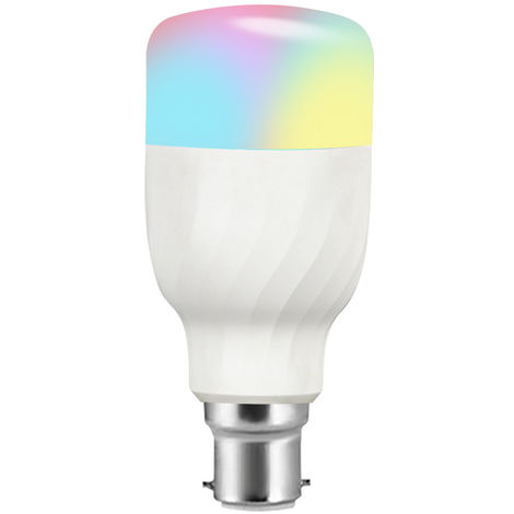Bombilla LED WIFI, Bombilla LED RGB + W, 11W, B22, Bombilla de control de voz