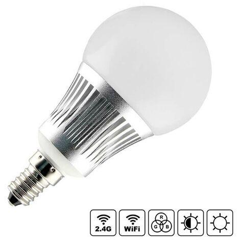Bombilla LED WiFi E14 Bulb 5W RGB+CCT, RGB + Blanco dual, regulable