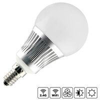 Bombilla LED WiFi E14 Bulb 5W RGB+CCT, RGB + Blanco dual, Regulable