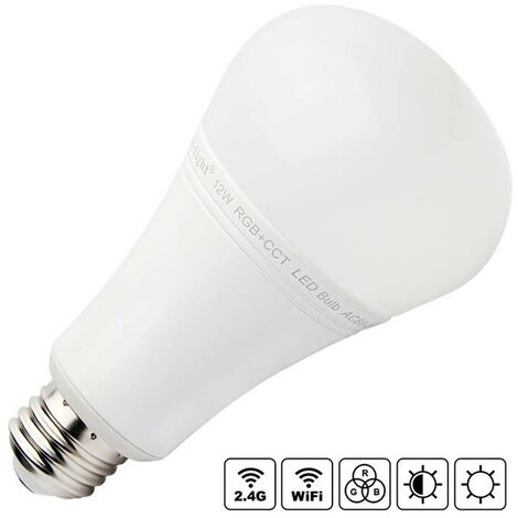 Bombilla LED WiFi E27 Bulb 12W RGB+CCT, RGB + Blanco dual, regulable - RGB + Blanco dual