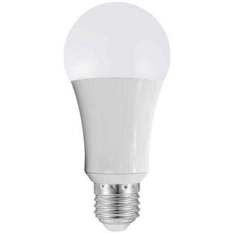Bombilla LED WIFI inteligente, Bombilla LED RGB multicolor, 18W, E26 / 27