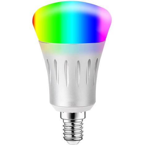Bombilla LED WIFI inteligente, Bombilla LED RGB + W, 11W, E14, para Alexa Google Home