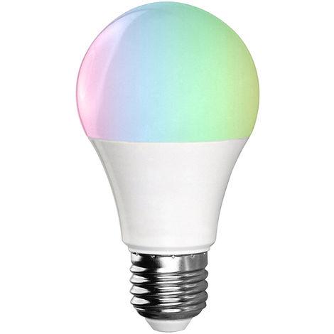Bombilla LED WIFI inteligente, Bombilla LED RGB + W, 11W E27, para Alexa Google Home, Blanco