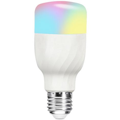 Bombilla LED WIFI inteligente, Bombilla LED RGB + W, Control de voz, 11W E27