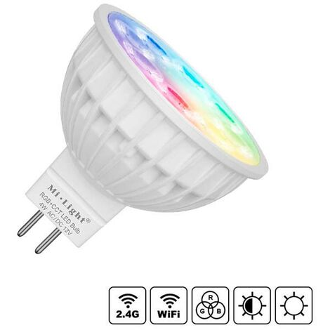 Bombilla LED WiFi MR16 Bulb 4W RGB+CCT, RGB + Blanco dual, regulable