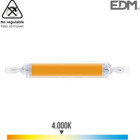 BOMBILLA LINEAL LED 118MM R7S 12W 1250 LM 4000K LUZ DIA Ø 16MM EDM - NEOFERR..