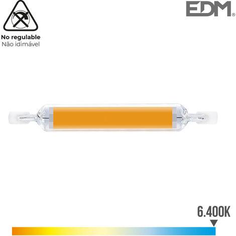 BOMBILLA LINEAL LED 118MM R7S 12W 1250 LM 6400K LUZ FRIA Ø 16MM EDM - NEOFERR..