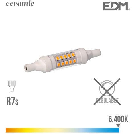 BOMBILLA LINEAL LED 78MM 5.5W 6400K 230V 600 LUMENS CON BASE CERAMICA EDM - NEOFERR