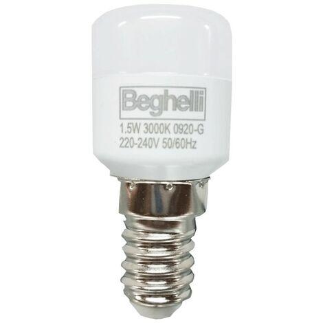 Bombilla Pequeña Pera Beghelli LED 1.5 W E14 3000K 56175