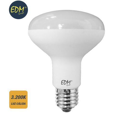 Bombilla reflectora led r80 smd 10w 810 lumens E27 3200k luz calida EDM 35487