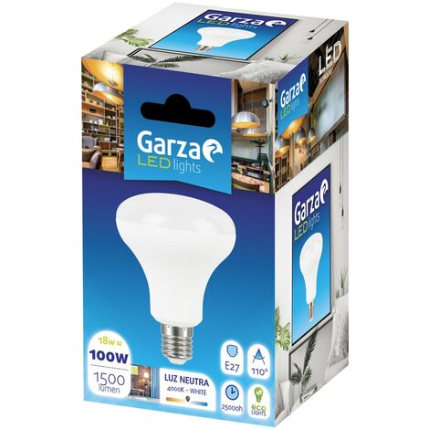 Bombilla Reflectora LED R90, E27, 18W, 1500 lumenes, 110º Luz neutra