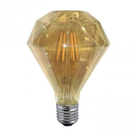 Bombilla regulable decorativa ámbar LED 6W 2300k