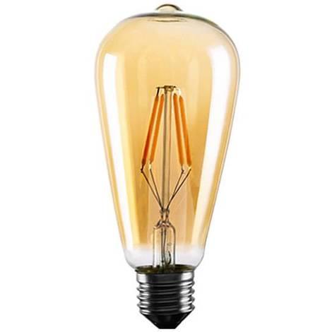 Bombilla retro Vintage Edison E27 ST64 4W de filamento