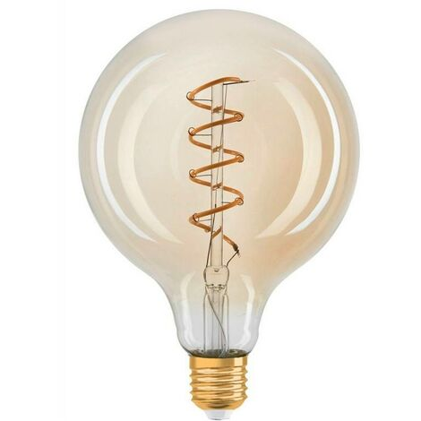 Bombilla Retro Vintage globo filamento espiral E27 G125 4W regulable