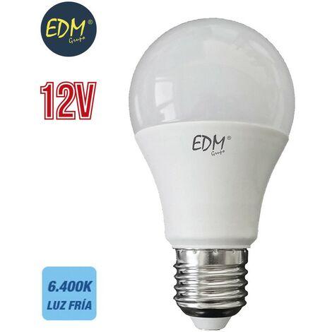 Bombilla standard led 12v 10w E27 810 lumens 6400k luz fria EDM 98851