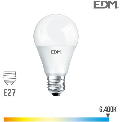 Bombilla standard led e27 10w 810 lm 6400k luz fria edm