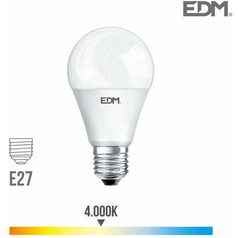Bombilla standard led e27 15w 1521lm 4000k luz dia edm