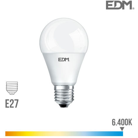 Bombilla standard led e27 17w 1800 lm 6400k luz fria edm